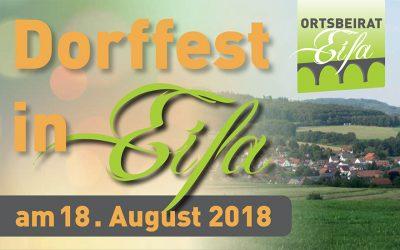 18.08.2018 – Dorffest in Eifa